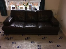 Brown 3 Seater Couch