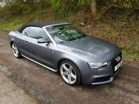 AUDI A5 2013 2.0TDI S-LINE CONVERTIBLE 177BHP DIESEL CABRIOLET SPECIAL EDITION