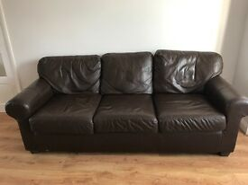 Free leather 3 piece suite. Collection only. Must go Tomorrow or Saturday