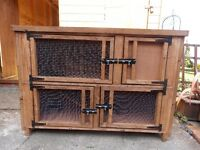 NEW - 4FT DOUBLE RABBIT HUTCH - NEW