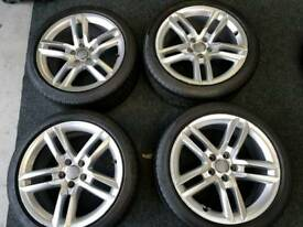 18 inch Audi Sline Wheels 5x112 Fitment