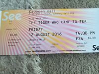 The Tiger Who Came To Tea - 12 Aug 2016 - 1x Adult and 2x Children £25 Total