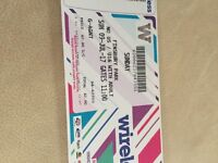 Wireless festival ticket for sale for Sunday 9 th July