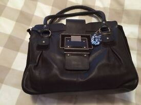 brown real leather and suede next bag - £20