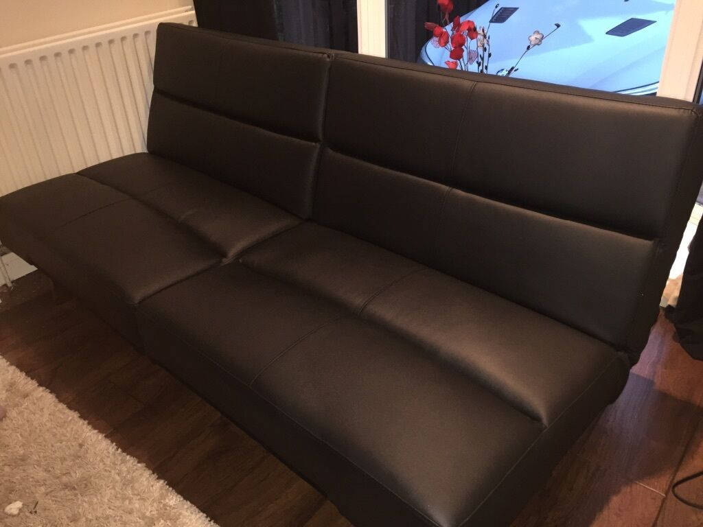 Asda Tenby Click Clack Sofa Bed Black