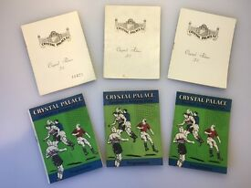 Bundle of 6 Very Old Crystal Palace FC Football Programmes - 1961 - 1966 - Excellent Condition