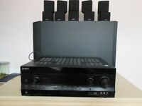 Bose Acoustimass 10 Series III Speaker System with Sony STR-DH820 Amplifier. GWO