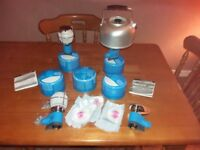 Camping stoves and lights JOB LOT 2 stoves and 2 lights plus gas cartridges & accssories BRAND NEW