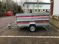 Brand new TEMA PRAKTI car box tiper trailer 750kg with double side