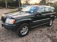 Jeep Grand Cherokee Limited 4701cc Petrol Automatic 4x4 Estate X Reg 13/09/2000 Green