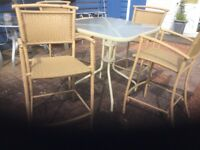 Patio table with 4 chairs
