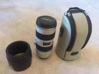 Perfect condition. As new. Canon zoom lens EF 70-200 F2.8 IS L series