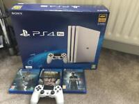 PS4 Pro Glacier White (boxed with GOW, U4, CODWW2)