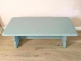 Shabby Chic Solid Oak Coffee Table.