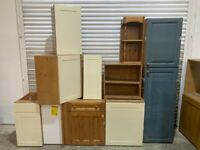 Kitchen Units Job Lot - Sheraton Pine Carcases with Doors