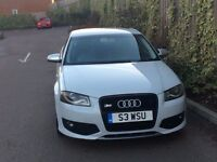 Stunning Audi A3 with S3 Kit in White 2.0 Fsi 6 Speed Low Mileage Leather Bose - PX WELCOME