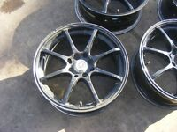 set of 4 multi spoke,multi fit 4 stud alloy wheels came off renault clio