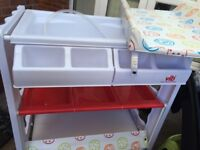 V.I.B changing unit for babies, everything you need for baby in one place. Space saving idea!