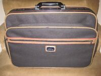 Small Black Fabric Antler Suitcase