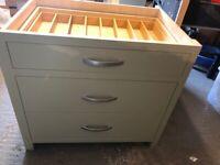 3 drawer kitchen floor cabinet
