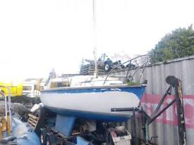 Vivacity yacht on McGregor trailer new bearings