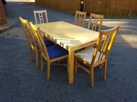 Ikea Dining Table & 6 Aaron Chairs FREE DELIVERY 214