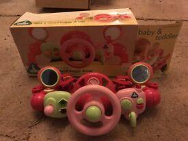 ELC light & sound bugger driver pram toy in Pink