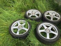 Vauxhall Zafira 2008 Set of Alloy Wheels X4 good tyres 205 55 R16