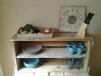 Rustic reclaimed wood kitchen shelf 95x45x30