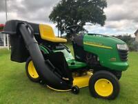 Big powerful professional John Deere ride on mower sit on lawnmower garden lawn tractor Honda kubota