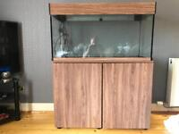 180l aquel tank and cabinet with full setup