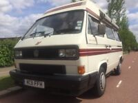 REDUCED BY £3,000 1990 VW T25 AUTO-SLEEPER TRIDENT 1915cc PETROL CAMPERVAN 50,200 GENUINE MILES FSH