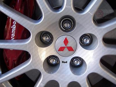 08-17 Mitsubishi Lancer precut Wheel Center Cap Emblem Decal Overlays - set of 5