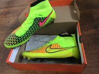 NIKE Magista Obra FG Yellow Football Boots UK 9