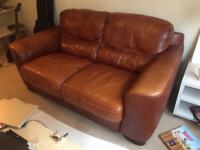 Leather sofa , good condition and confortable