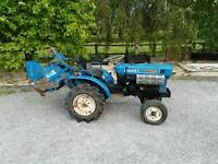 Isuzu tx 1000 mini tractor and rotavator