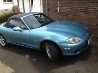 Metallic blue low mileage Mazda MX5 1.6L