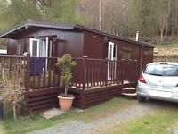 Holiday Chalet, 2 bedroom, in quiet beautiful Caer Beris Holiday Park, Builth Wells, Wales.