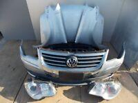 Front end LHD headlight, Radiator, Bonnet VW Touran 1st gen facelift 2008