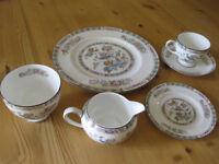 Tea Service by Royal Worcester In Kutani Crane Design