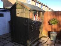 Good Condition Wooden Garden Shed 6x4