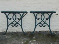 Cast Iron Table Ends