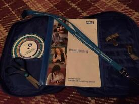 Midwife diary cover plus extras. Ideal for student!