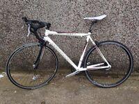 Saracen Tour 3 54cm 700c wheel Road Bike 16spd Carbon Forks