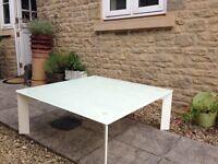 Designer White Glass Coffee Table