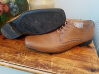 Mens brown leather brogues shoes size 10. Only worn once for a wedding