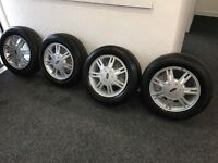 4 X Ford Fiesta alloys and tyres