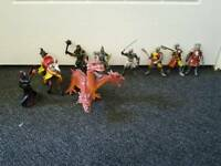 Collection of knights and soldiers for knights castle, dragon and witch