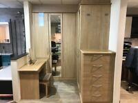 Ex-Display Hepplewhite Hammonds Bedroom Wardrobes, Dressing Table and Drawers
