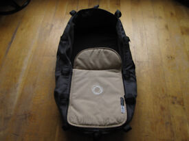 Bugaboo Cameleon carrycot fabric, mattress, sand coloured apron and wooden board £45